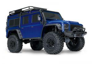 NEU TRAXXAS TRX-4 LR DEFENDER 4X4 METALLICBLAU RTR O. AKKU/LADER 1/10 4WD SCALE-CRAWLER BRUSHED