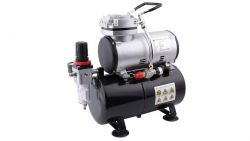 Airbrush Kompressor mit dem Druckbehälter Fengda AS-186