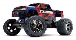 SLVR TRAXXAS STAMPEDE VXL ROT BL OHNE AKKU/LADER 1/10 2WD MONSTER TRUCK BRUSHLESS