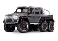 MERCEDES-BENZ G63 AMG 6X6 RTR OHNE AKKU/LADER INKL LICHT 1/10 6WD SCALE-CRAWLER BRUSHED SILBER