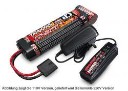 AKKU/AC-LADER COMPLETER PACK EU-VERSION (2969G & 2923X) 2 AMPERE 230V LADER & 7ZELLEN NIMH 3000MAH AKKU (STRAIGHT)