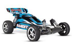 TRAXXAS BANDIT BLAU BUGGY RTR OHNE AKKU/LADER 1/10 2WD BUGGY BRUSHED